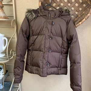Maurices brown puffer coat